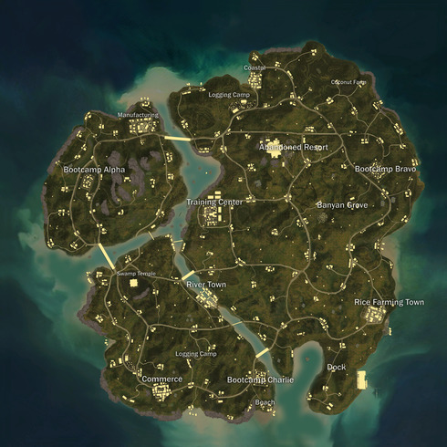 PUBG Interactive Map - Map Comparison